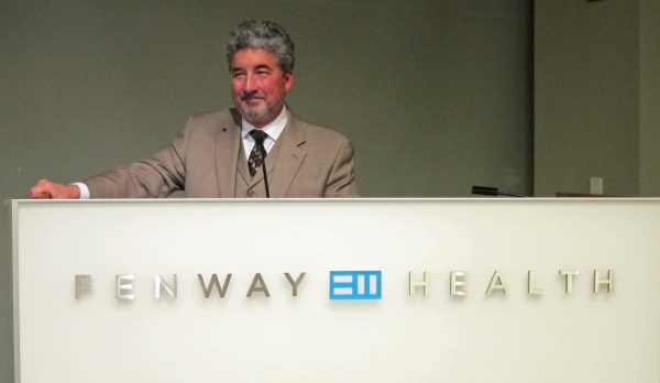 Author Tom Martorelli speaking at Fenway Health November 16, 2012